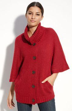 Red cape cardigan