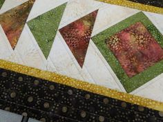 Vicki's Crafts and Quilting: QAYG with Island Batik