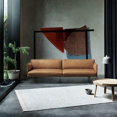 MUUTO Outline Sofa in Cognac