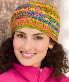Lace Hat Crochet Pattern  Made from Heart & Sole sock yarn  #redheartyarn