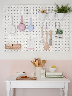 #pegboard #kitchen   Yvestown blog for Dille & Kamille