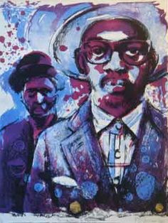 Bambo Sibiya lithograph: Paris Swenka. South African artist