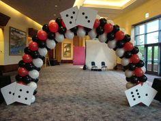 Balloon Arch Casino Theme by www.atlantaevents.biz