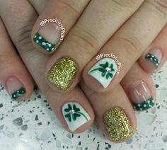 French st patricks day nails