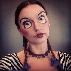 My Pinterest inspired Halloween make up, came great, but you gotta make a creepy face