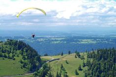 Paragliding between Dombresson and Savagnier