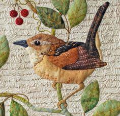 Wren (Garden Bird) by Sandra Leichner (applique)