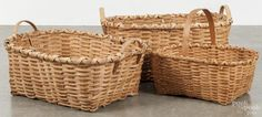 split oak gathering baskets 20th c.
