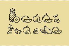 Fruit icons on behance Icons Web, Icon Design, Logo Design, Graphic Design, Puzzle Photo, Fruit Icons, Free Web Design, Behance, Line Icon