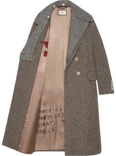 Gucci Sequin embroidered wool coat - button on collar