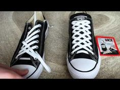 Ways To Lace Shoes How To Tie Shoes How To Tie Converse Ways To Tie Shoelaces Leather Shoe Laces Stylet Diamond Shoes Lace Sneakers Adidas Sneakers Lace Converse Shoes, How To Lace Converse, Lace Sneakers, Ways To Lace Shoes, How To Tie Shoes, Fancy Shoes, On Shoes, Shoe Boots, Ways To Tie Shoelaces