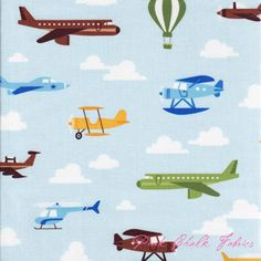 Caleb Gray Out N' About Flight Sky ---pinkchalk fabric
