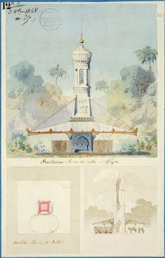 7. Gabriel Auguste Ancelet (Paris 1829 – Paris 1895), Une fontaine pour l'Algérie, Concours d'émulation d'octobre 1848.