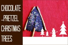 Chocolate-Pretzel Christmas Trees :: A Holiday Treat Kids Can Make