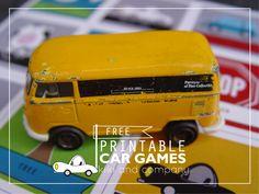 Free Printable Car Games