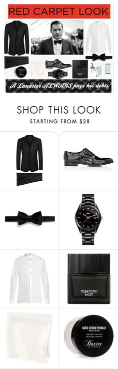 """Winter is coming..."" by klmalcolm ❤ liked on Polyvore featuring Dolce&Gabbana, Prada, Lanvin, Rado, Balenciaga, Tom Ford, Baxter of California, men's fashion and menswear"