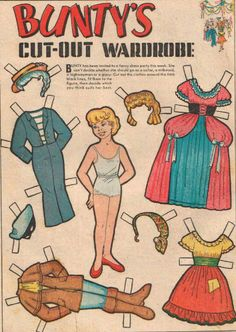 Bunty Comic Book Paper Doll 5 remember these well, loved the cut out dolls had a tin full! 1970s Childhood, Childhood Memories, Comic Book Paper, Comic Books, Bad Drawings, Nostalgic Images, Vintage Paper Dolls, Retro Toys, Free Paper
