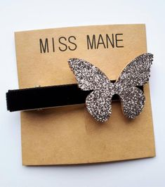 "Charcoal Grey Butterfly Hair Clip | 1.5"" Butterfly Approx. Black velvet ribbon 60mm long alligator clip with teeth for secure and comfortable fit. Lead+Nickel Free Alligator Clip Velvet Hair, Butterfly Hair, Hair Slide, Velvet Ribbon, Black Velvet, New Hair, Free Design, Girl Hairstyles, Teeth"