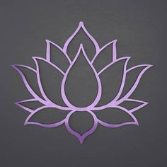Lotus Flower Metal Wall Art with Amethyst Purple Finish. The perfect statement piece for your home, business or outdoor space. Among its many meanings and significance, the lotus development and Lotus Flower Art, Lotus Flower Tattoo Design, Lotus Art, Flower Tattoos, Lotus Kunst, Stencil Designs, String Art, Nail String, Dot Painting