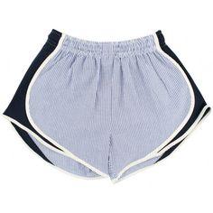 Seersucker!!!!!! Shorties Shorts in Navy Seersucker by Lauren James I want these so so bad!