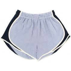 Seersucker!!!!!! Shorties Shorts in Navy Seersucker by Lauren James I want these so so bad!