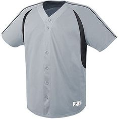 9d59cb05842 The Impact Full-Button Jersey is constructed of 100% Polyester flat back  mesh with. Youth Baseball ...