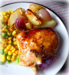 Lemon and Thyme Roasted Chicken and Potatoesfrom The English Kitchen
