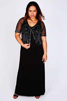 85d5b93506ae99 Black and Silver Sequin Embellished Mesh Shrug Plus Size Shrugs, Silver  Sequin, Occasion Wear