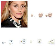 Olivia Palermo se suma a los pendientes doble perla, descúbrelos en todas sus versiones  Comprar pendientes tendencia aquí: www.deplanoodetacon.com/15-pendientes