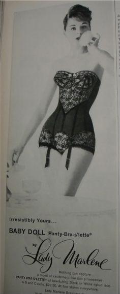 Lady Marlene vintage lingerie ad.