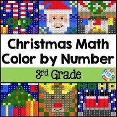 Christmas Math Color