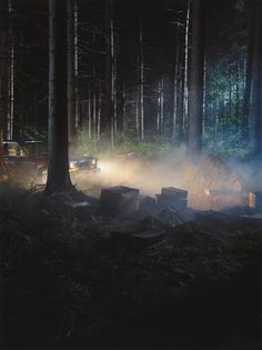 PHILLIPS : NY000210, Gregory Crewdson, Production Still (Man in Woods #4)