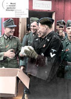 Waffen ϟϟ and Wehrmacht. Ww2 Uniforms, German Uniforms, German Soldiers Ww2, German Army, Military Insignia, Military Personnel, Luftwaffe, Germany Ww2, Ww2 Photos