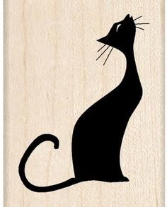 Inkadinkado Musical Cat Wood Stamp: Cool cat singing her song in silhouette on this wood stamp. Create interest on cards, scrapbook pages and more. Coordinates with other stamps. Musical Cats, Mundo Hippie, Image Chat, Black Cat Art, Photo Chat, Cat Quilt, Cat Silhouette, Cat Crafts, Cat Drawing