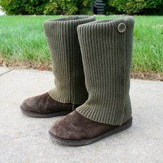 DIY No Sew Sweater Boots - [Replace sweater with fur for Orc boots]