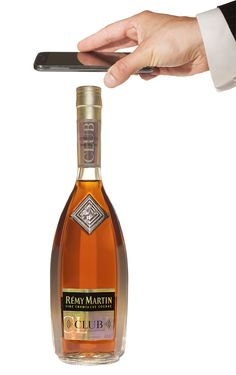 Rémy Martin Club connected bottle.