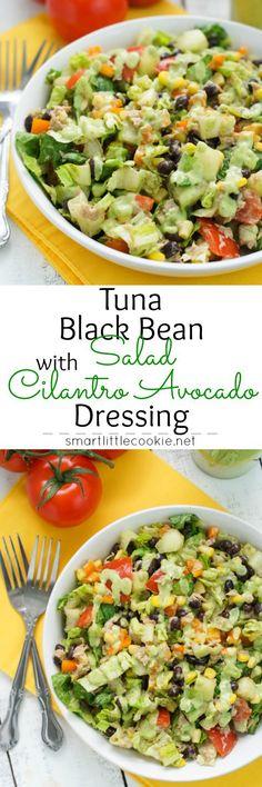 Black Bean Chipotle Salad with Cilantro Avocado Dressing ~ this salad ...