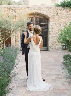 Truvelle dress. Intimate Spanish Villa Destination Wedding