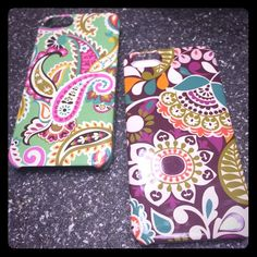 Vera Bradley iPhone 5 Cases Today Only Sale 2/$20 Vera Bradley Like New Cases iPhone 5 cases. Two for $30. If just want one discontinued pattern just comment below. But I rather sell them together. Thanks Dolls  What a Deal✨✨ Vera Bradley Accessories Phone Cases