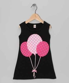 Take a look at this Black & Fuchsia Balloon A-Line Dress - Infant, Toddler & Girls by mini scraps on zulily today! Frocks For Girls, Kids Frocks, Little Dresses, Little Girl Dresses, Cute Baby Dresses, Toddler Dress, Infant Toddler, Toddler Girls, Infant Girls