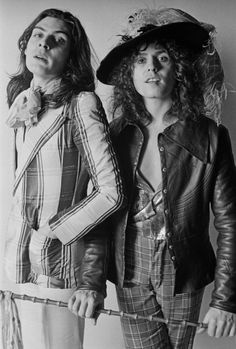 Mickey Finn (the drummer!) and Marc Bolan, my personal cool motivators.