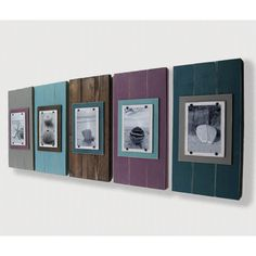 Set of Five Long Wood Plank Frames for 5x7'S Gallery Frame Grouping... (3,970 MXN) ❤ liked on Polyvore featuring home, home decor, grey, home & living, home décor, picture frames & displays, grey home decor and gray home decor