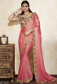 Red Traditional Georgette Saree 36600 - green and white blouse, lace blouse, white women's blouse *sponsored https://www.pinterest.com/blouses_blouse/ https://www.pinterest.com/explore/blouses/ https://www.pinterest.com/blouses_blouse/blouse-designs/ http://www.gordmans.com/women/womens-clothing/shirts-and-blouses/