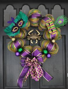 Making something close to this for my door.  I hate that Arkansas skips over Mardi Gras celebration, but most people I know observe Lenten?  Why not acknowledge Fat Tuesday if you are planning to make a sacrifice for Lent?  Makes no sense.