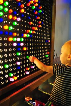 must go to this children's museum in Portland for a giant lite brite.
