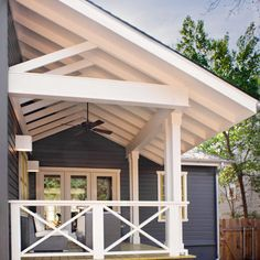 open ceiling for covered porch