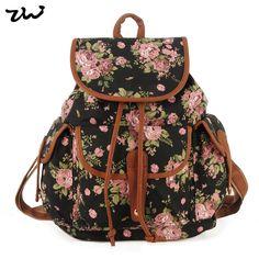 Ziwi marca chegada nova Ladies Anna Smith lona Retro Backpack mochila Girls School mochila QQ1626 1 em Mochilas de Bolsas e Malas no AliExpress.com | Alibaba Group