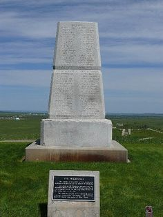Custer's Last Stand Memorial, Little Bighorn National Park, Wyoming