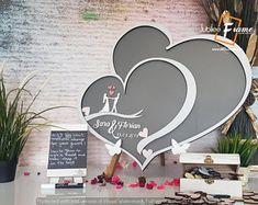 Personalized Wedding Anniversary Guest Book Alternative by DecoJubilee Wooden Wedding Guest Book, Wood Guest Book, Guest Book Sign, Wedding Book, Wedding Ideas, Jubilee Line, Wooden Easel, Event Themes, Guest Book Alternatives