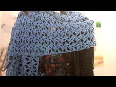 How to crochet romantic lacy shawl - easy/beginner level / shawl en crochet - YouTube